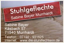 Stuhlgeflechte Sabine Bayer Murrhardt